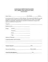 Self Medication Release Form - Jamesville-DeWitt Central School ...