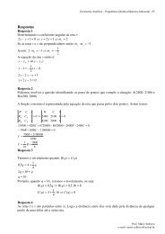 Respostas - Curso de Engenharia Química-UNISUL