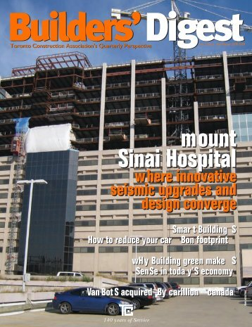 mount Sinai Hospital mount Sinai Hospital - Toronto Construction ...