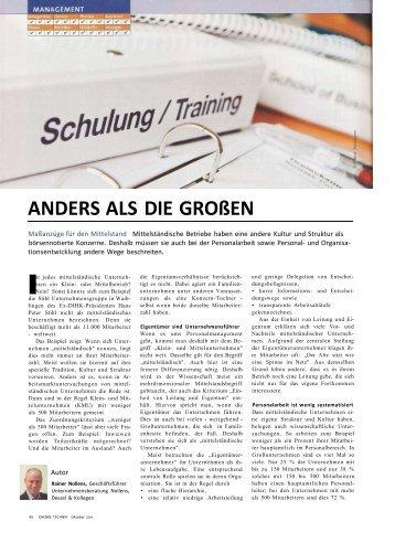 ANDERS ALS DIE GROßEN - Mittelstandsberatung Nollens & Dessel