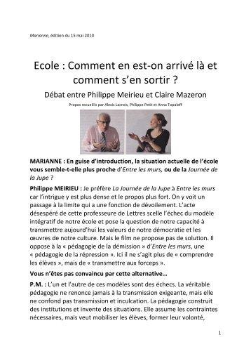 PM - Site de Philippe Meirieu