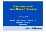 Fundamentals of Cone-Beam CT Imaging - German Cancer ...