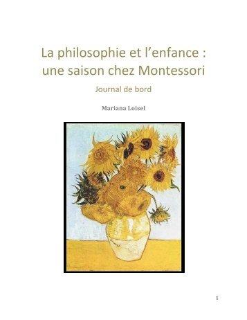 une saison chez Montessori - Site de Philippe Meirieu