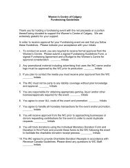 the Third Party Fundraising Guidelines Form - Women's Centre of ...