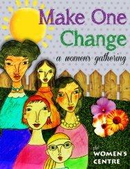 Make One Change Program Guide - Women's Centre of Calgary