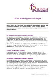 Der No Blame Approach in Belgien