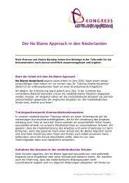 Der No Blame Approach in den Niederlanden