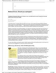 Medical Errors: Should you apologize? - MCIC Vermont Patient ...
