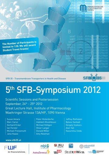 5th SFB35 Symposium 2012, Vienna - Transmembrane ...