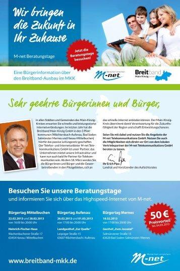 Wir bringen die Zukunft in Ihr Zuhause - Breitband Main-Kinzig GmbH