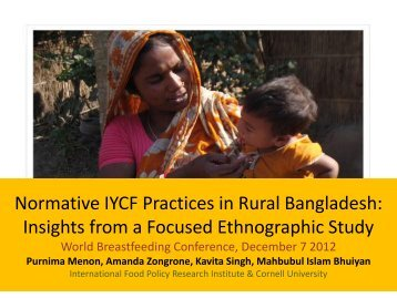 Normative IYCF Practices in rural Bangladesh - World Breastfeeding ...
