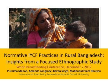 Normative IYCF Practices in rural Bangladesh - World Breastfeeding ...