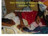 Streaming of Breast Feeding Activities, Sudan - World Breastfeeding ...