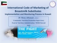 International Code of Marketing of Breastmilk Substitutes ...