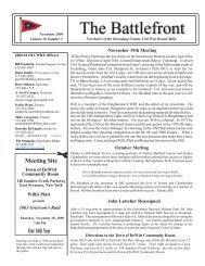 November, 2009 - Local History