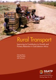 Rural Transport – Improving its Contribution to Growth ... - World Bank