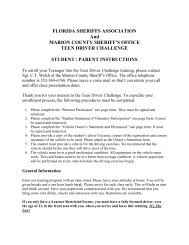 Teen Driver Challenge Forms 2012 - Marion County Sheriff