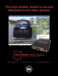 The most reliable, simple to use and affordable In-Car ... - PRO-VISION