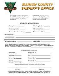Vendor Application cover - Marion County