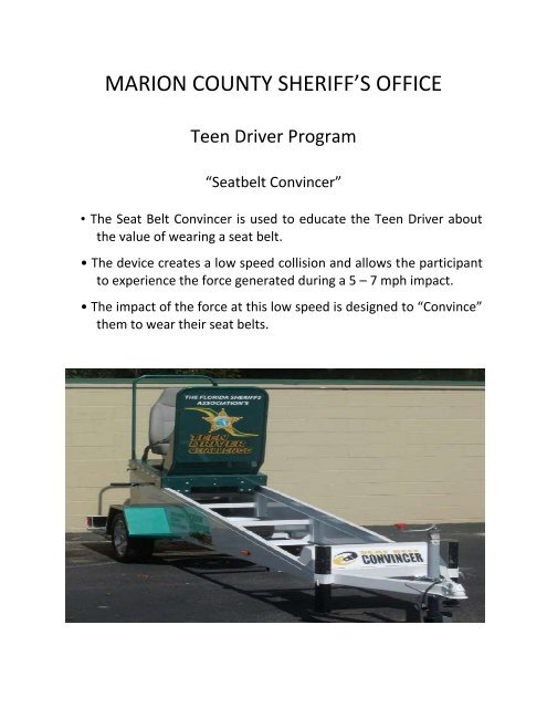 MARION COUNTY SHERIFF'S