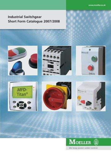 Industrial Switchgear Short Form Catalogue 2007/2008