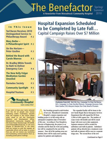 The Benefactor - Monadnock Community Hospital