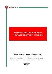 Küresel Mali Kriz ve Reel Sektöre Muhtemel Etkileri - Türkiye ...