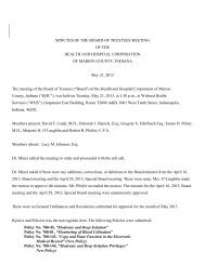 May 21, 2013 - Health and Hospital Corporation of Marion County