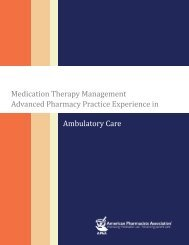 MTM Advanced Pharmacy Practice Experience in Ambulatory Care