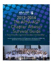 Chapter Advisor's Survival Guide - American Pharmacists Association