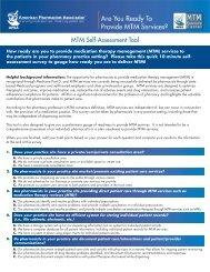 MTM Self-Assessment Tool - American Pharmacists Association