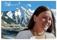 Limited-Residency Undergraduate Program - Prescott College