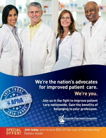 We're the nation's advocates for improved patient care. We're you.