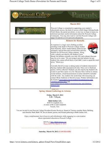 Trails Home March March 2012 edition of the ... - Prescott College
