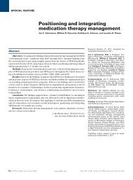 Positioning and integrating medication therapy management