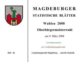 Wahlen 2008 - Oberbürgermeisterwahl am 9. März 2008