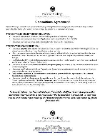 Tennessee consortium agreement prescott college platinumwayz