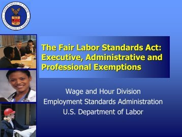 The Fair Labor Standards Act: Executive ... - Prescott College