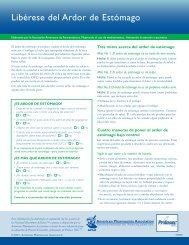 Libérese del Ardor de Estómago - American Pharmacists Association