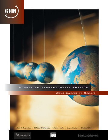 Global entrepreneurship report - ResearchGate