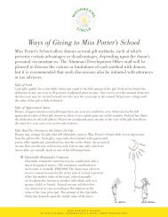 Ways of Giving to Miss Porter's School
