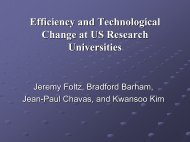 Technical Change and Efficiency at US Land Grant Universities: Is ...