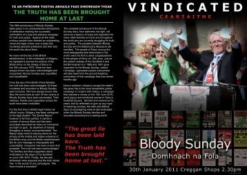 Bloody Sunday Programme 2011 - The Pat Finucane Centre