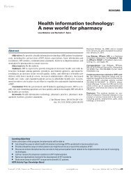 Health information technology: A new world for pharmacy