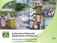 Centro para el Desarrollo Agropecuario y Forestal, Inc. 2011 - CEDAF