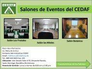 Alquiler de Salones - CEDAF