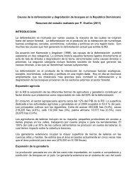 Causas de la deforestación y degradación de bosques en ... - CEDAF