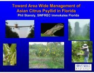 Current and Future Management Tools for the Asian Citrus ... - CEDAF