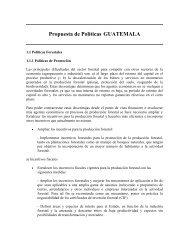 Propuesta de Políticas GUATEMALA - CEDAF
