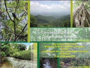 Conceptualización de Gobernanza Forestal - CEDAF